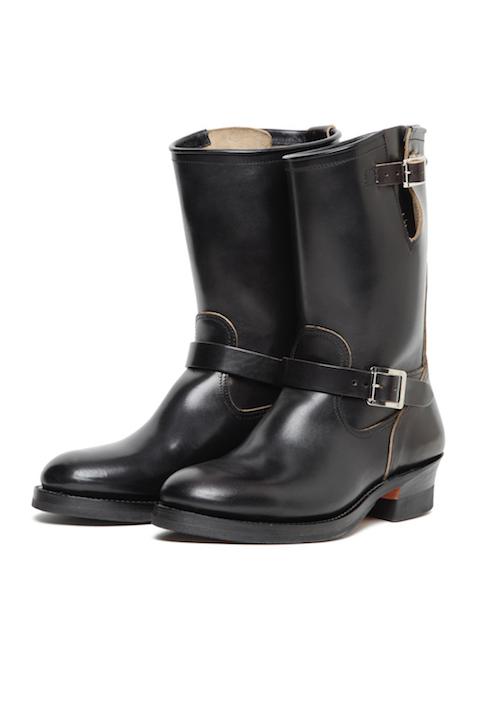 Lot.444 Engineer Boots (Horse Butt) -Black-