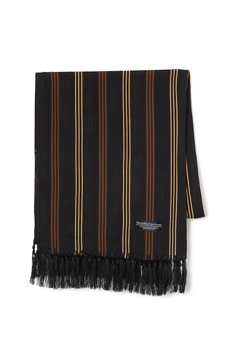 """WEARMASTERS SCARF """"3Line Stripe"""" Black"""