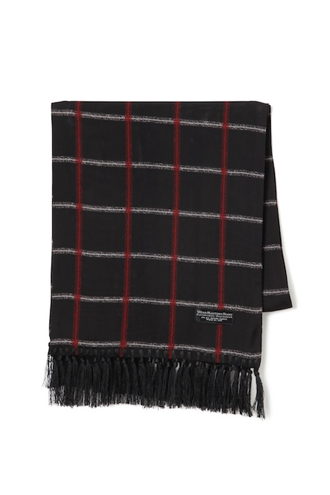 "WEARMASTERS SCARF ""Check"" Black"