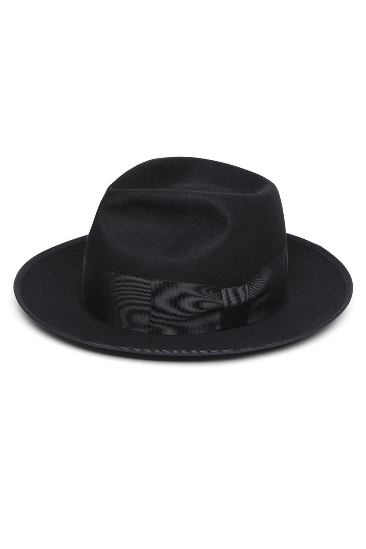 Beaver Fur Felt Hat -Black-