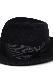 Rabbit Fur Felt Hat -Black-