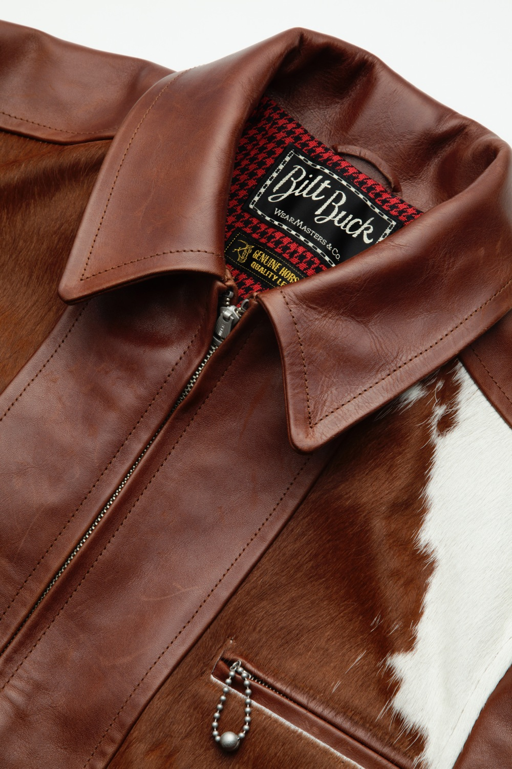 Hair On Cowhide LL Leather Jacket Brown