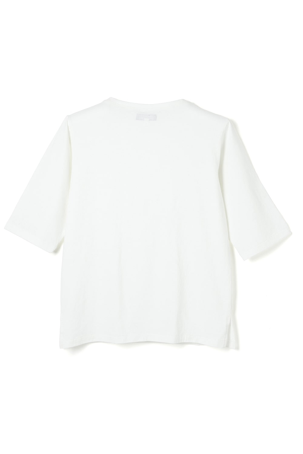 CK Boat Neck Tee -White-