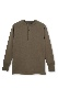 Henley Neck Thermal Shirt -Olive Drab-