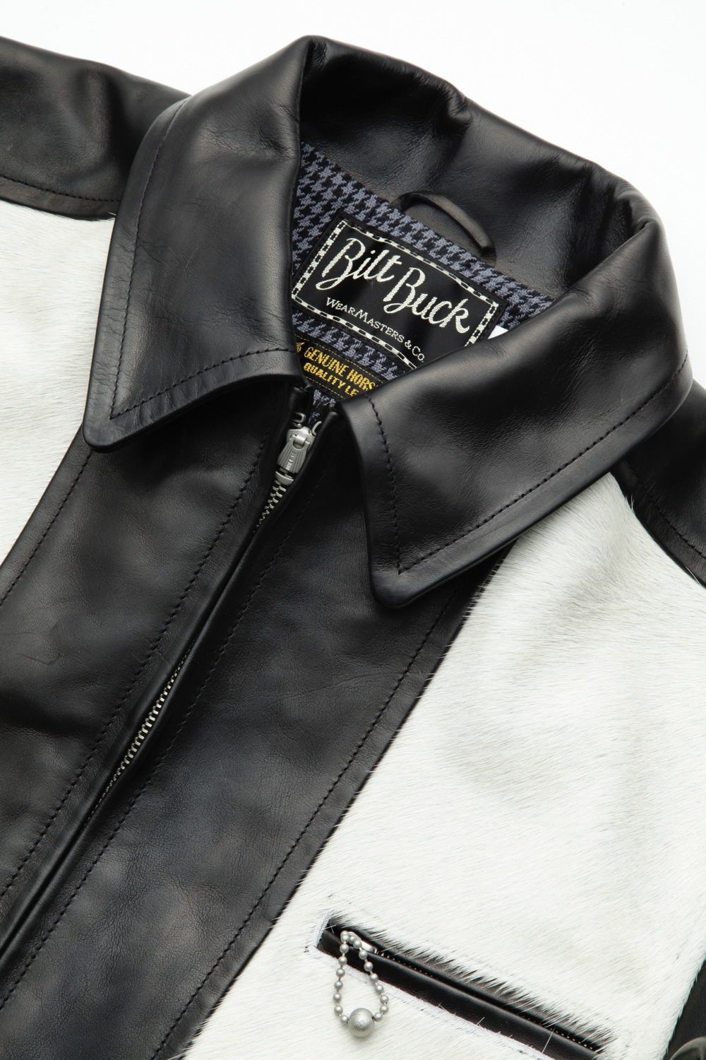 Hair On Cowhide LL Leather Jacket Black