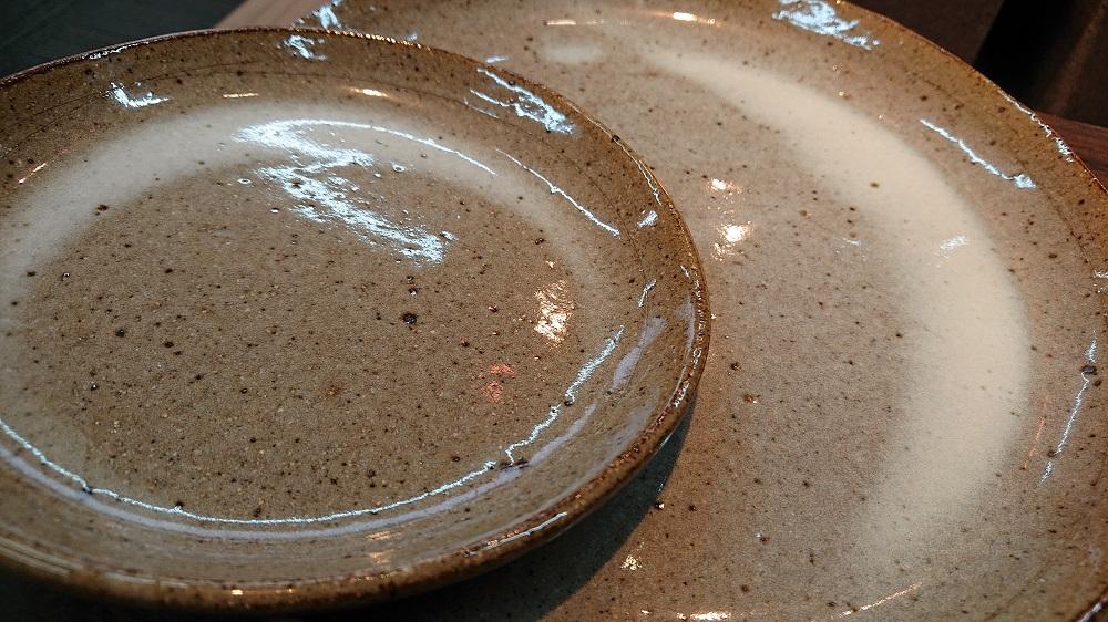 (炎の味がま)信楽焼 皿セット