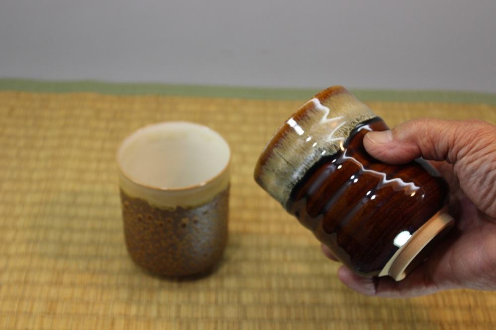 (高取焼 比古窯)寿司湯呑