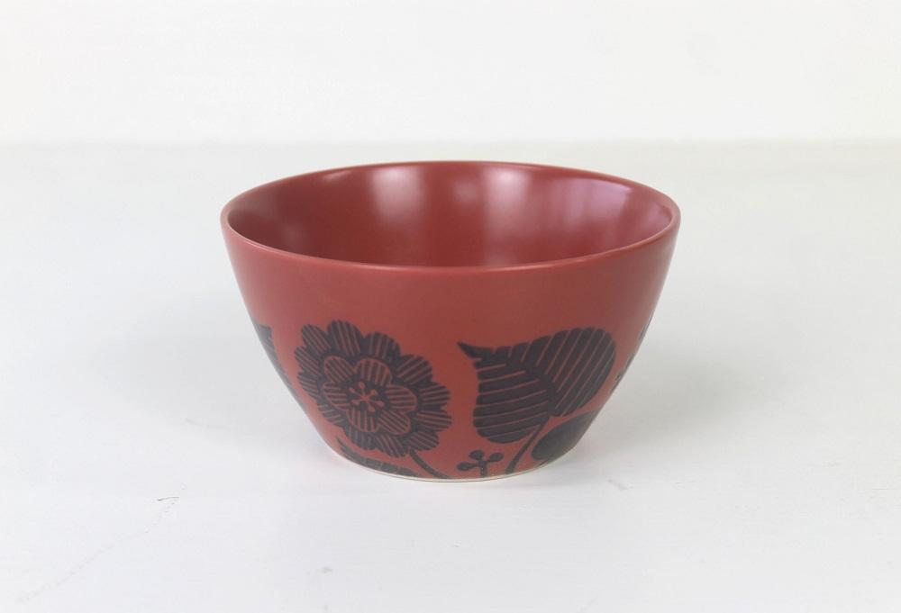 (石丸陶芸(株))波佐見焼 フロール(赤)プレート&ボールセット