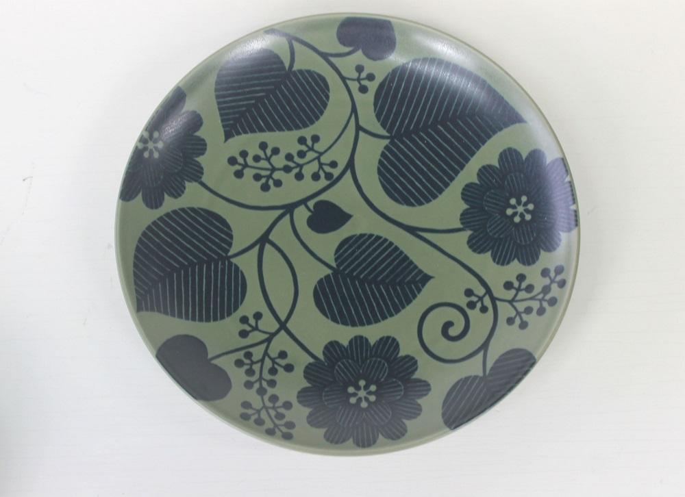 (石丸陶芸(株))フロール(緑)プレート&ボールセット