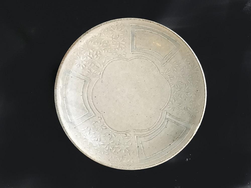 (乾太郎窯)きなり釉大皿セットA(7点セット)