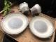 (竜仙窯) 粉引吹きのマグカップとソーサー