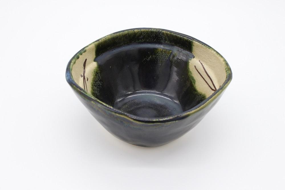 (拝戸窯稲山) 織部小鉢