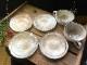 (竜仙窯) 荒土粉引スープとお皿のセット