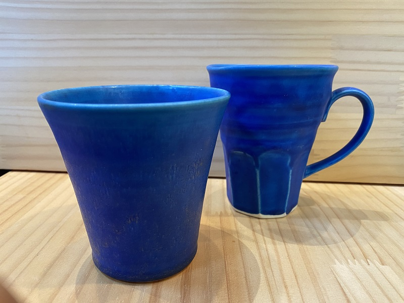 (知山窯)ギャラクシーブルーカップ&マグ