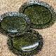 (宝寿窯)ビードロ釉楕円オーバル皿3点セット