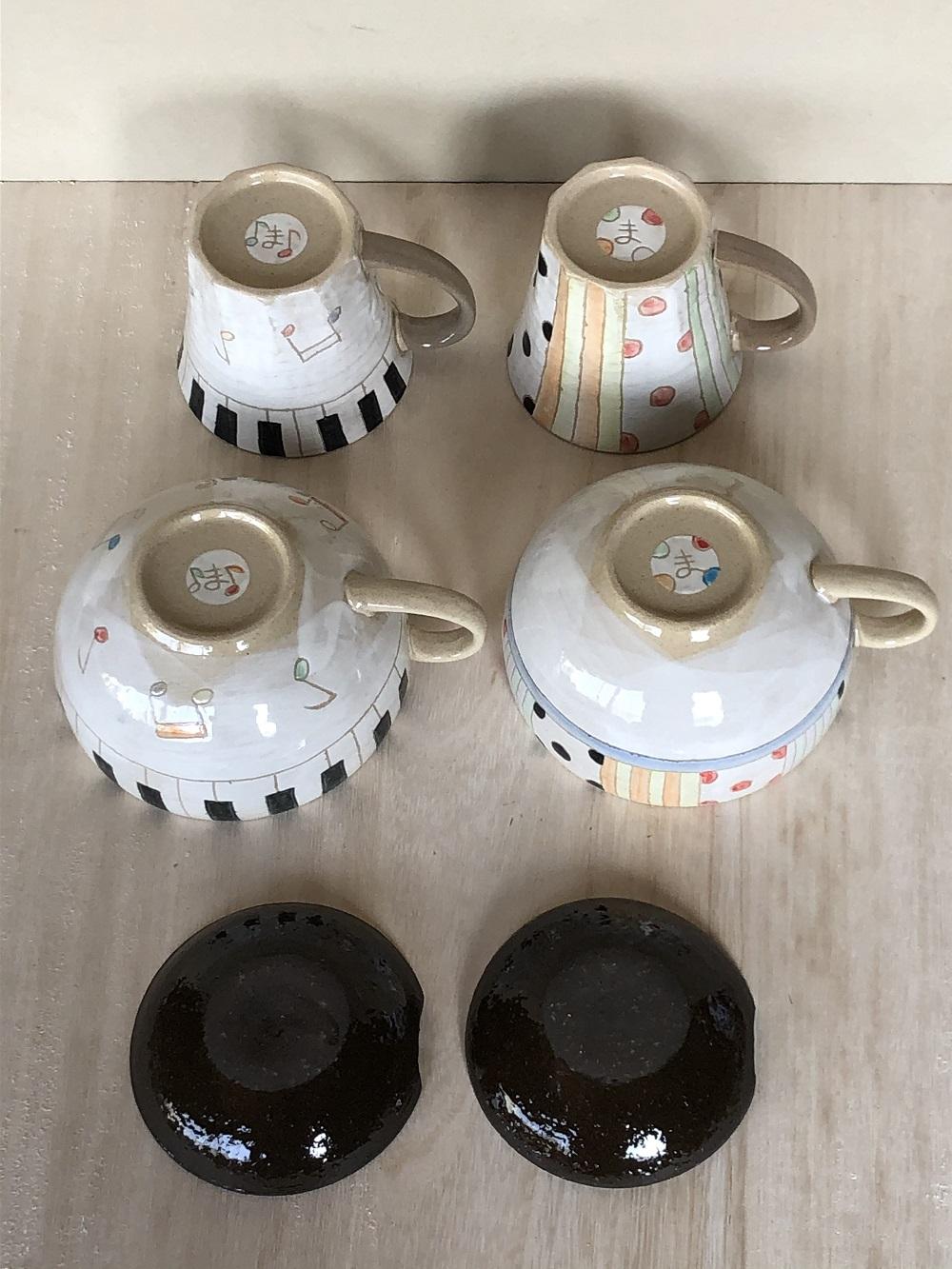 (窯元 和陶苑)手描き食器セット