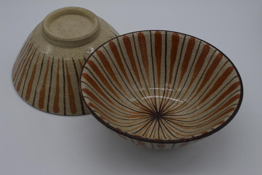 (拝戸窯稲山) 麦藁手茶碗