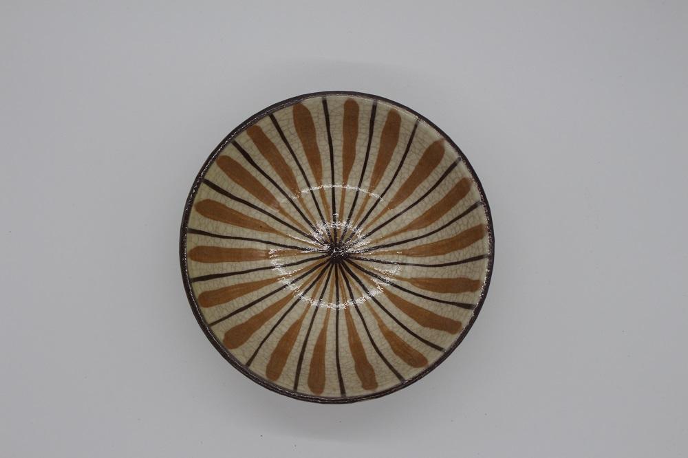 (拝戸窯稲山) 麦藁手小鉢