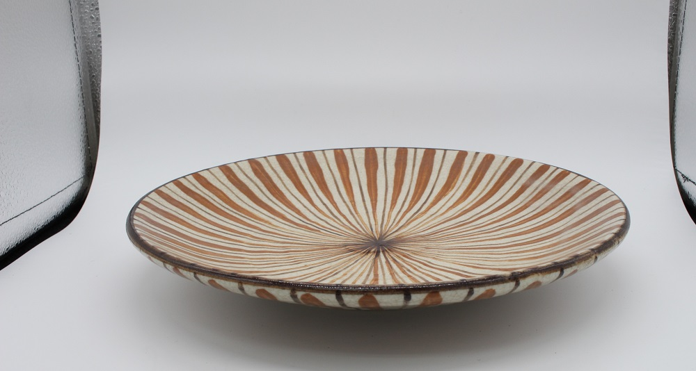 (拝戸窯稲山) 麦藁手皿