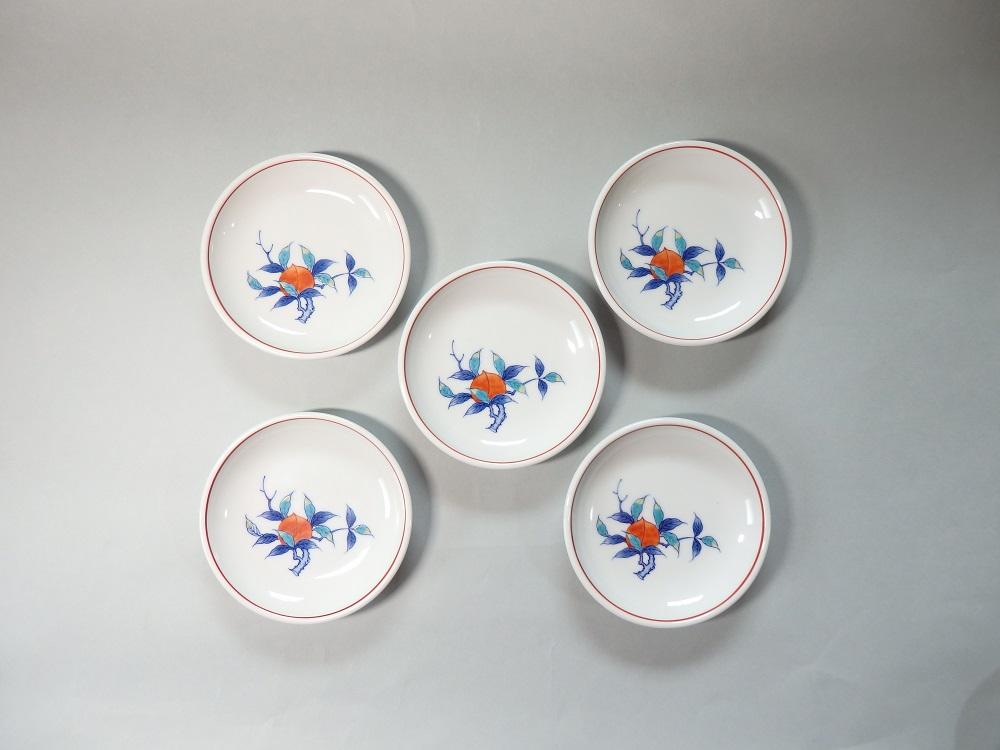 (市川冬山窯)食卓を彩るお皿5点セット(桃)