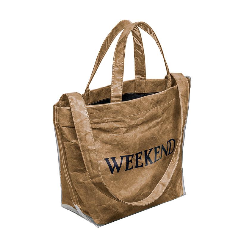 PVC Bag (WEEKEND) BEIGE