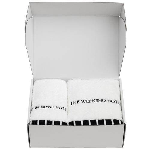 寿用 Bath Towel GIFT BOX(Msize White1枚,Lsize White1枚セット)