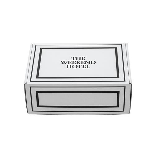 御出産御祝用 Bath Towel GIFT BOX(Msize White 2枚セット)