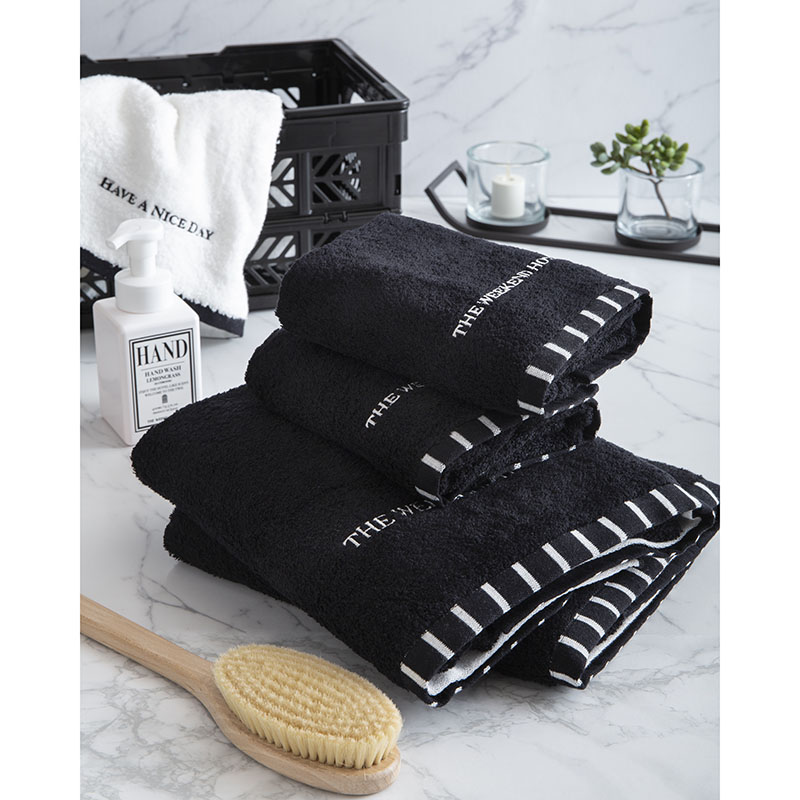 Bath Towel (M size Black)