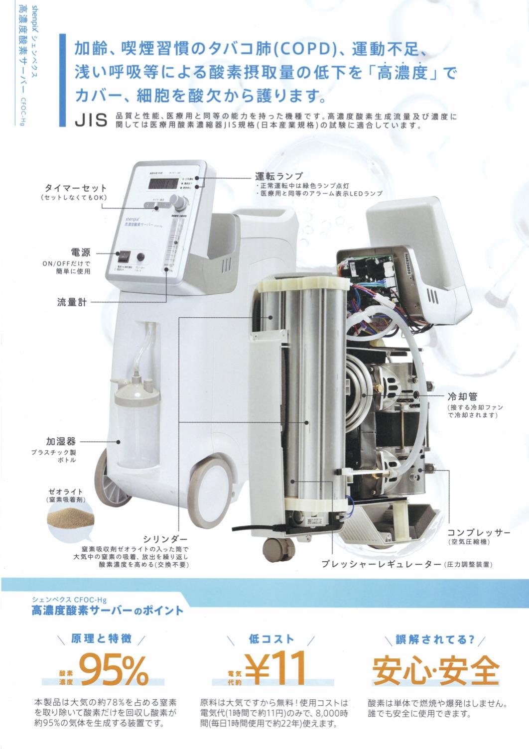 シェンペクス式酸素濃縮器 (CFOC-Hg)