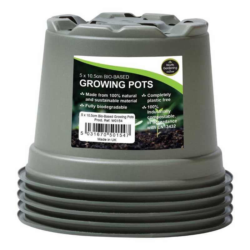 生分解性 苗鉢 Bio based Growing pot 90mm, 5-pack