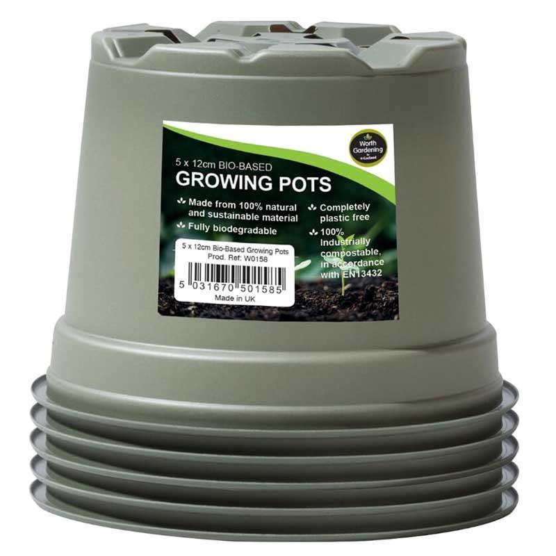 生分解性 苗鉢 Bio based Growing pot 120mm, 5-pack