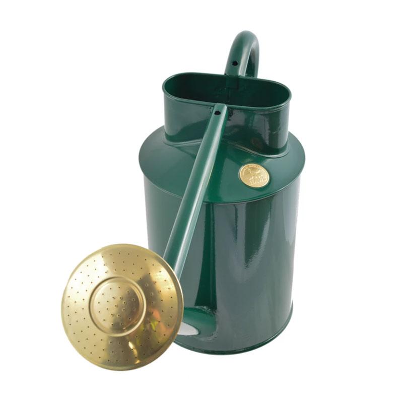 HAWS 大型スチールジョウロ Traditional Watering Can, グリーン, 8.8L
