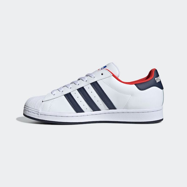 adidas Originals アディダス SUPERSTAR Cloud White / Collegiate Navy / Red FV8270