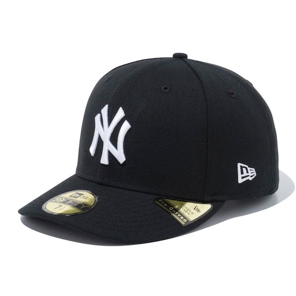 NEW ERA  ニューエラ Pre-Curved 59FIFTY Newyork Yankees Black/White