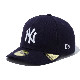 NEW ERA  ニューエラ Pre-Curved 59FIFTY Newyork Yankees Navy/White