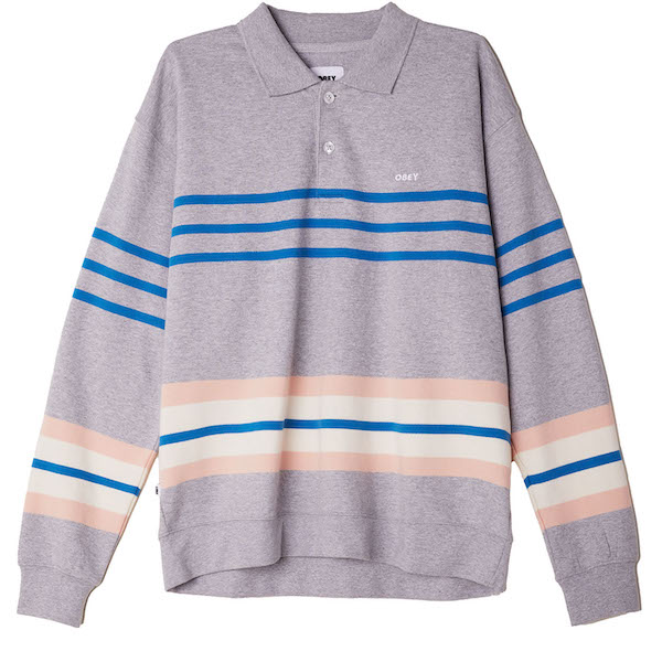 OBEY オベイ Isso Striped Polo