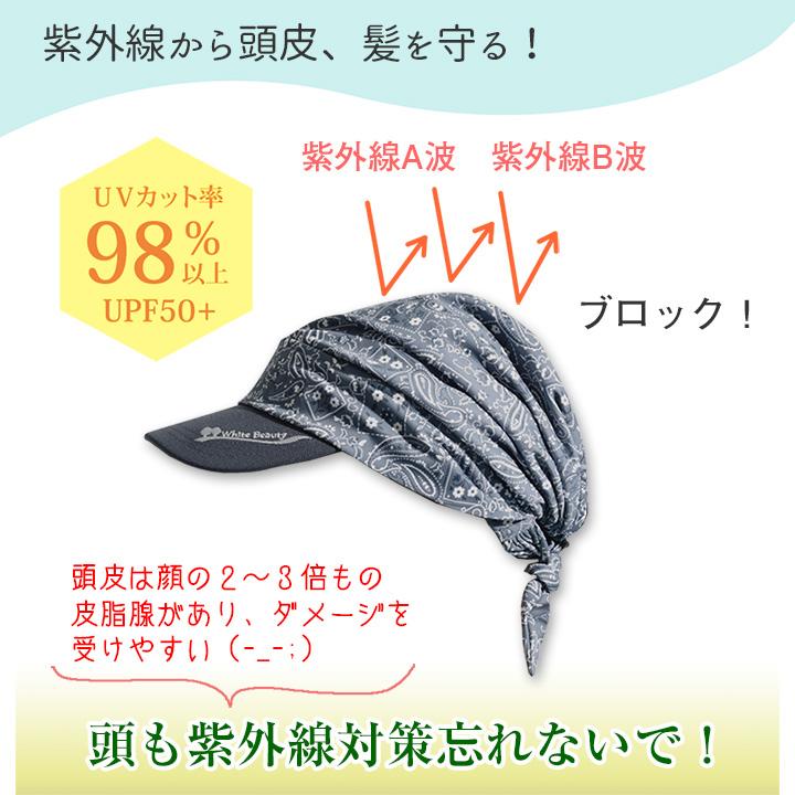 バイザーキャップ (ペイズリー柄)&サンバイザー 【セット】