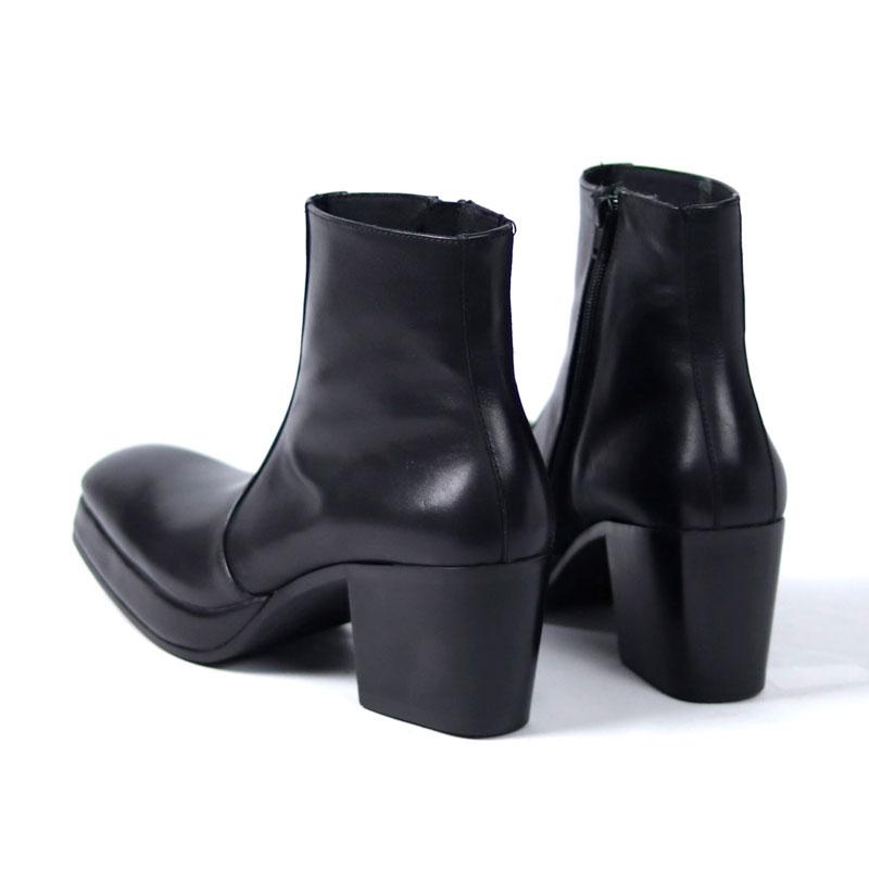 whoop-de-doo/フープディドゥ 8cmヒールメンズ厚底ブーツ : 21237342
