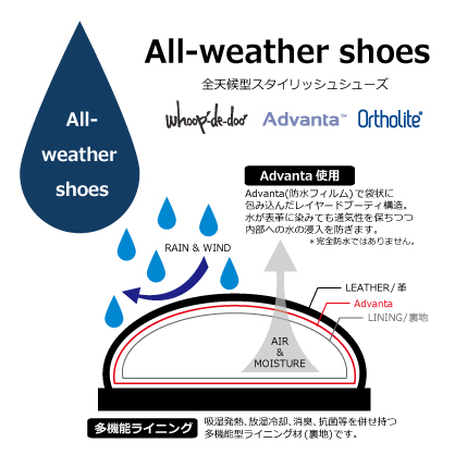 whoop-de-doo /フープディドゥ 全天候型防水ビジネスシューズ : 307161