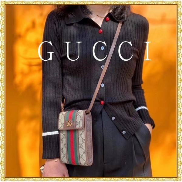 GUCCI グッチ  GG 携帯電話バック 男女兼用   サイズ: 12x17.5 【2021/02/05*140】 商品コード:GEKIYASU L-004347