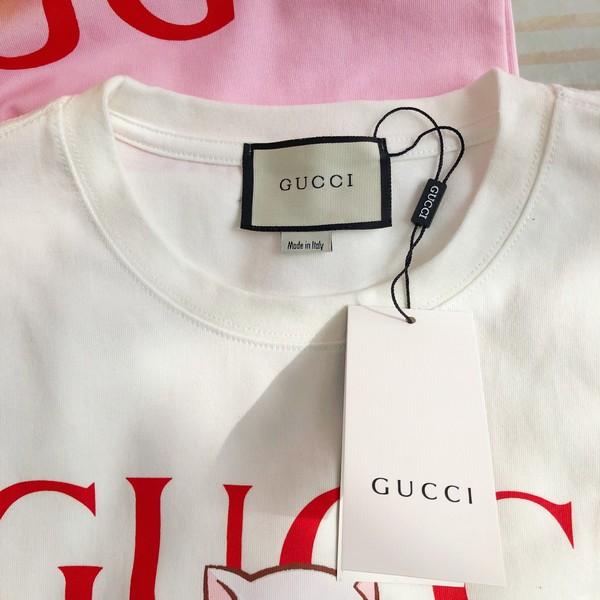 GUCCI グッチ   グッチ×バナナキャットTシャツ   2カラー  サイズ: S~L 【2021/04/07*65】 商品コード:GEKIYASU  L-004673