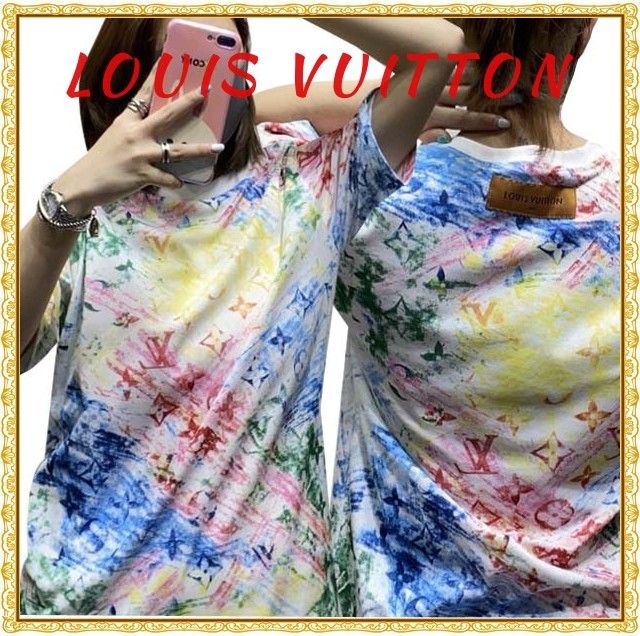 LV ルイヴィトン LOUIS VUITTON    LV ロゴプリントTシャツ 男女兼用  サイズ: XS~L 【2021/04/07*85】 商品コード:GEKIYASU  L-004674