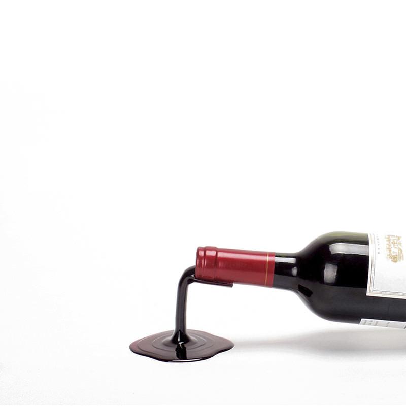 フォールインワイン ボトルホルダー レッド