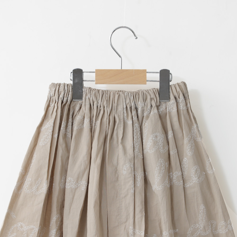 embroidery asymmetry skirt