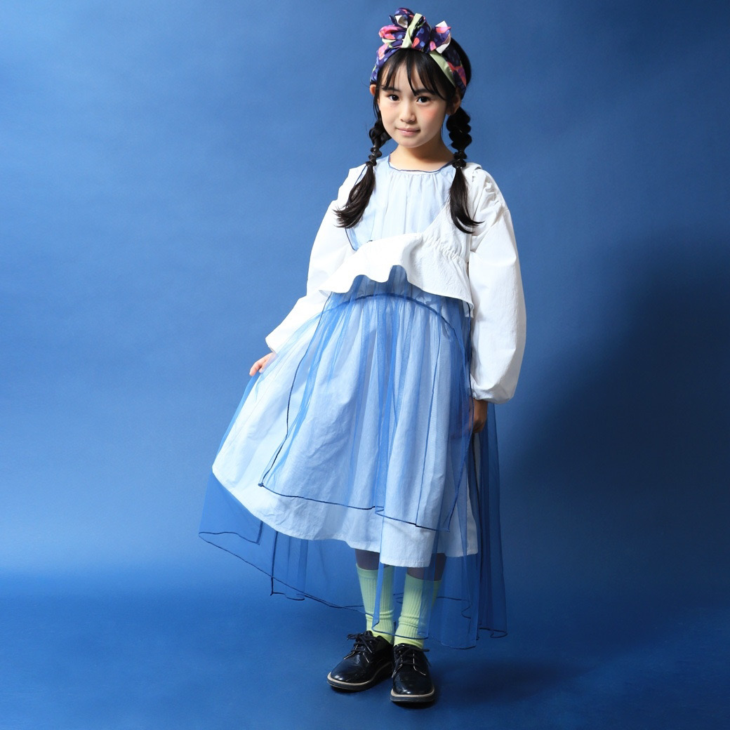 """WORD"" tulle long dress"