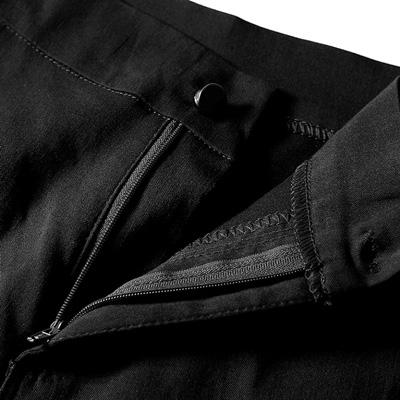 ジャズダンスパンツ衣装の綿混デニム風スキニーパンツ白黒|23174