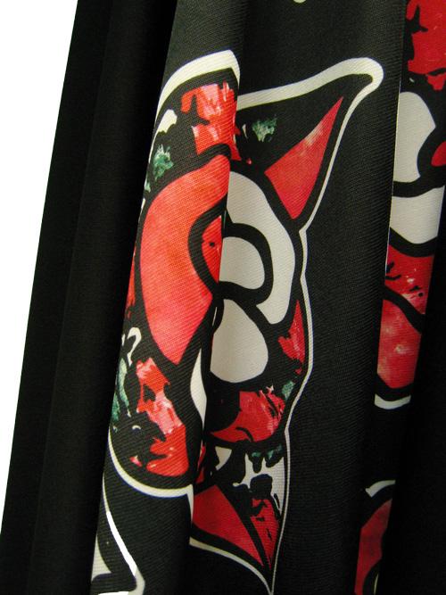 社交ダンス スカート コーラス 衣装 ステージ プリント切り替えフレアーダンススカート(SKBW22404)プリント