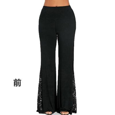 ジャズダンスパンツ衣装のストレッチワイドストレートパンツ|23019