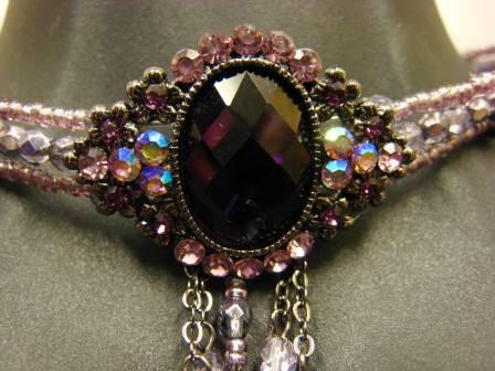 ダンスアクセサリー・チョーカー(ACBP60083) (フリーサイズ)紫