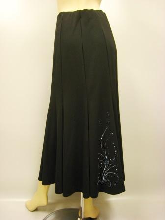 カットワーク八枚はぎマーメードスカート(SKBW22177)黒/白